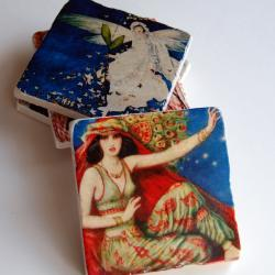 Cover Girls stone coasters