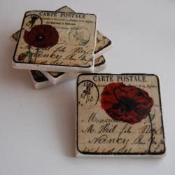 Red Poppies coasters