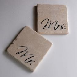 Mr & Mrs stone coasters
